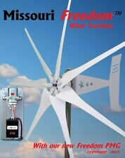 Freedom Package 24 volt 1700 watt max 7 blade wind turbine generator Bare Steel