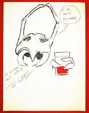 Roland GAREL. Dessin - Dédicace sur papier libre.