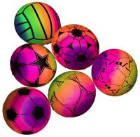 4x Strandball Ø 22 cm Fussball Kunststoffball Plastikball Mitgebsel