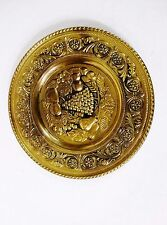 PEERAGE Brass Fruit Embossed Wall Hanging Plate England ''11 3/4