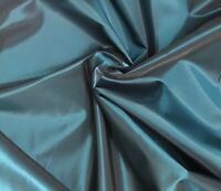 "Teal Black Iridescent Taffeta Fabric 60"" Width Sold By The Yard"