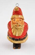 Antiker Christbaumschmuck Weihnachtsmann aus Lindenholz