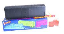HO Roundhouse Undecorated Black HI Cube 40' Boxcar kit in box
