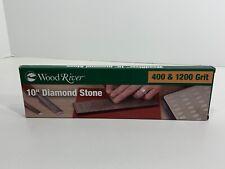 "WoodRiver 10"" Diamond Stone 400 & 1200 Grit, Brand NEW!"
