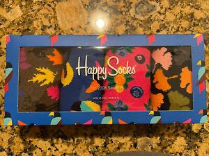 Colorful Happy Socks Gift Boxes for Men Women Size 10-13 Premium Cotton 4 pk New