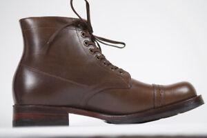 Julian Boots, Handmade, Cornish Miner Boot, Horween Chrome Excel Vintage Brown