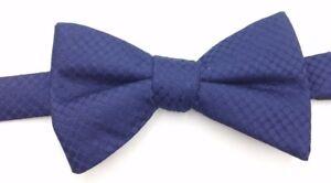 $95 Countess Mara Mens Navy Blue Polka Dot Bow Tie Classic Adjustable Bowtie