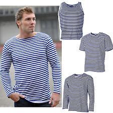 Rusa Marino Camiseta, Top o jersey xs-3xl, azul-blanco de rayas marinero