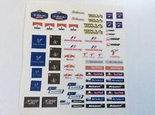 Scalextric /Slotcar Pre-Cut Decal Set A7575 Rothmans, JPS, Rizla etc