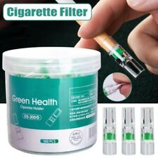 100Pcs Cigarette Holder Smoking Filters Cigaret Tar-proof Filtrator Healthy