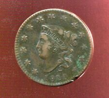 1820 20 OVER 19 MATRON HEAD COPPER LARGE CENT very fine