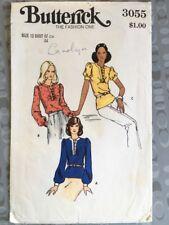"""Vintage 1970s Butterick Pattern 3055 - Misses Top Blouse,  Size 12 Bust 34"""" 87cm"""