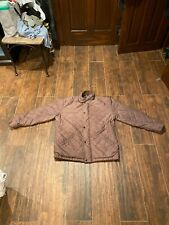 Ralph Lauren Polo Mens Brown Quilted Leather Coat Jacket Sz L Jacket Plaid