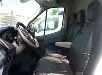 2+1 Schwarz Kunstleder Sitzbezüge Tischbezug für Ford Transit Custom 2013+ Neu