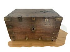 Small Antique Campaign Dowry Chest Indian Antique Artefact c1810