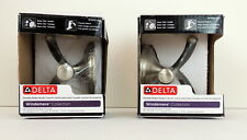 2 Delta Double Robe Hook Windemere Collection Brushed Nickle Finish Wall New