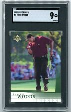 New listing 2001 Upper Deck Tiger Woods Rookie RC #1 SGC Mint 9