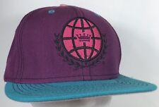 Love is Earth Hat Purple Teal Pink Hippie Featival Cap Snapback World Logo Crown