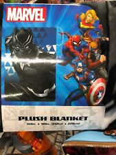 "NEW Marvel Black Panther 60"" X 90"" Large Plush Blanket"