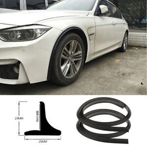 2Pc Flexible soft rubber Fender Flares Lip Trim Protective wheel tyre protective
