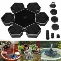 Lights Solar Powered Fountain Water Pump Night Floating Garden Bird Bath Kit