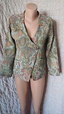 SAHARA tapestry floral print side button closure textured jacket blazer  10-12