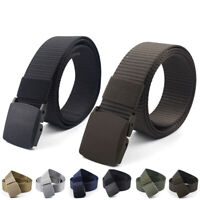 Mens Wearable Training Waist Belt Waistband Plastic Buckle Solid Color Classics