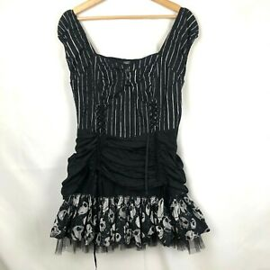 The Nightmare Before Christmas Hot Topic Jack Skeleton Goth Dress size Large