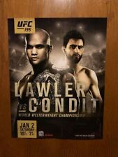 UFC 195 OFFICIAL Event Promo Poster - LAWLER vs CONDIT - 22x28