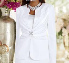 Ashro Formal Dress Wedding Dinner Party Church Trevi Skirt Suit White 12 14 16