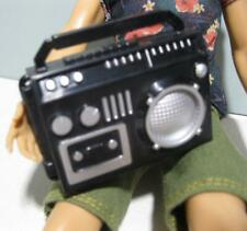 Ken Barbie Flava SKIPPER DOLL DIORAMA ACC-Black RADIO boom box 1/6 scale Diorama