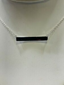 Name Bar necklace sterling silver RRP $59