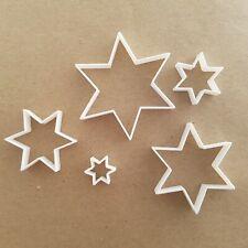 Star Shape Mini Fondant Cutter Small Six Point Star Sugarcraft Icing Set