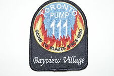 Canadian Fire Department Station Patch 111 Bayview Village Toronto Pump