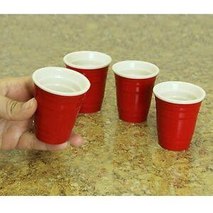20 Mini Replica Solo Cups / Glasses for Shots Beer Wine 2 oz - Red or Black
