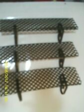 3 X Retro VTG Mid Century Black Metal Wire Mesh Wall Shelf Bath Kitchen Laundry