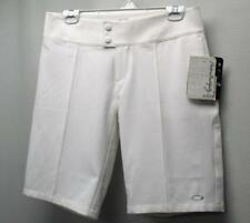 New Womens Oakley white polyester spandex Golf Shorts Size US 8