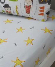 shériff étoiles gris jaune simple 90x190+25cm Mélange de coton Drap housse