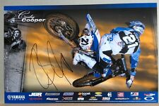 *CODY COOPER*SIGNED*AUTOGRAPHED*POSTER*YAMAHA*#21 MOTOCROSS*SUPERCROSS*COA*