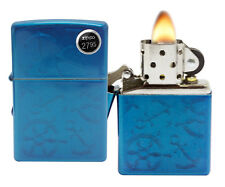 Zippo 29251 Iced Nautical Cerulean Blue Finish Windproof Pocket Lighter New