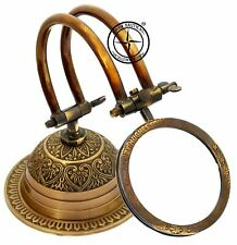Brass Magnifier Etching Nautical Desk Magnifying Glass With Fully Brass Base