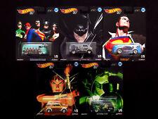 Hot Wheels Pop Culture DC Justice League Alex Ross 5 Die-casts, VW Dodge Austin