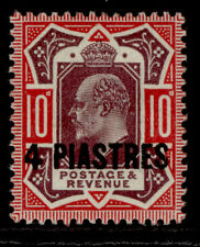 BRITISH LEVANT GV SG31b, 4pi dull reddish purple & carmine, M MINT. Cat £20.