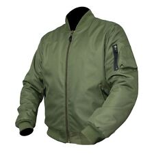 ARMR Moto Aramid Classic Bomber Motorcycle Scooter Jacket Waterproof CE Armour L Olive