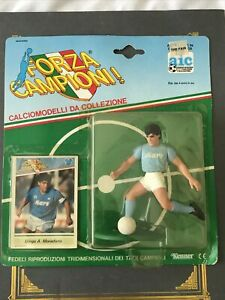 Vintage DIEGO MARADONA action figure KENNER toy FORZA CAMPIONI soccer CARD