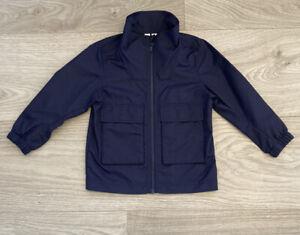 Boys Arket Navy Waterproof Jacket Age 2-3 RRP £55 Excellent Condition