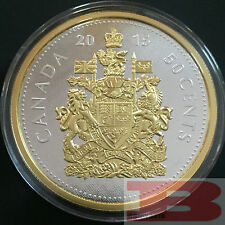 5 oz. Fine Silver Gold-Plated Coin – 2015 Big Coin Series: 50-cent Coin Canada