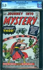 Journey Into Mystery 83 CGC 5.0  1st Thor ow/w pages!