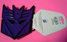 TRANSFORMERS DECEPTICON BELT BUCKLE NEW w/ TAGS PURPLE MEGATRON Hasbro NWT G1