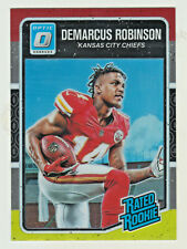 2016 Donruss Optic RED & YELLOW HOLO REFRACTOR #164 DEMARCUS ROBINSON RC RETAIL